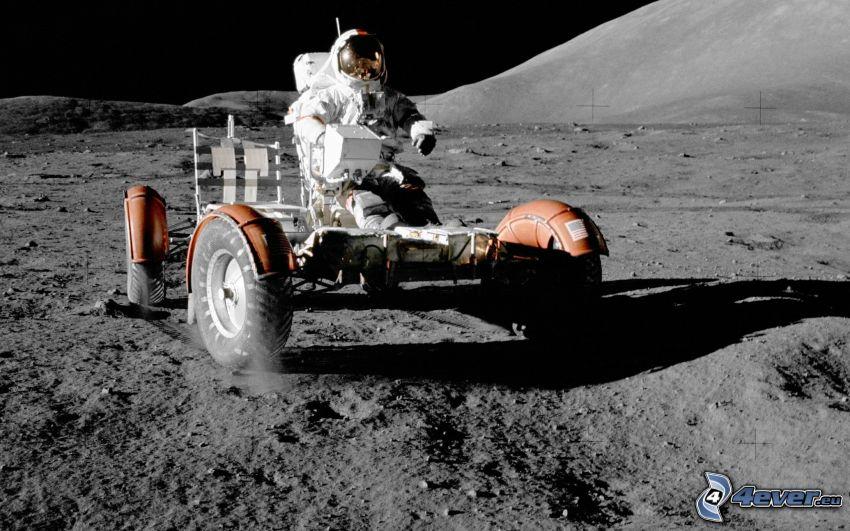 Apollo 17, Lunar Roving Vehicle LRV, Månen