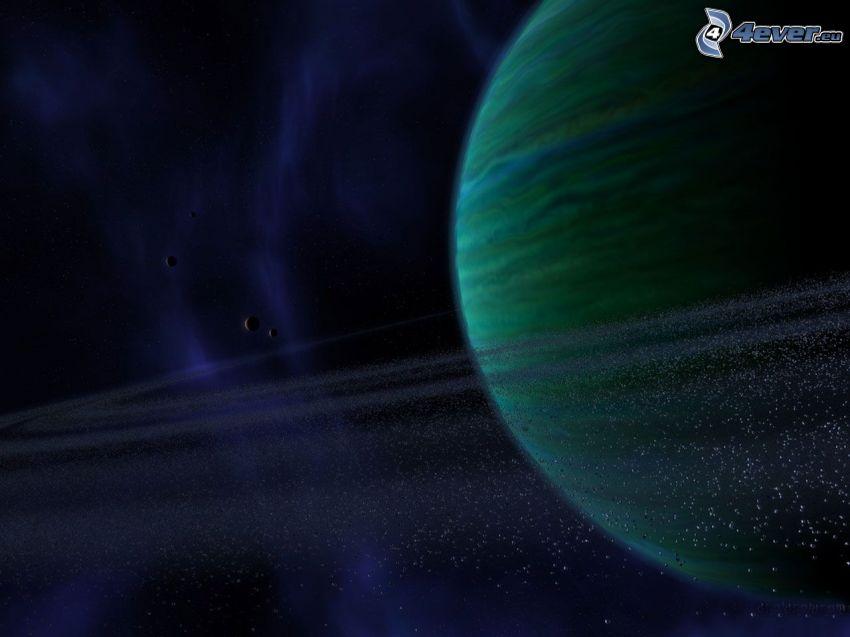 djup rymd, planet, asteroidbälte