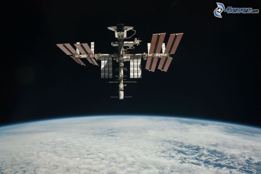 Internationella rymdstationen ISS, Jorden, Endeavour fäst till ISS