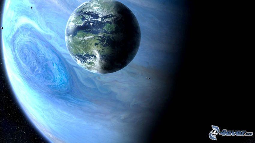 Jorden, Jupiter