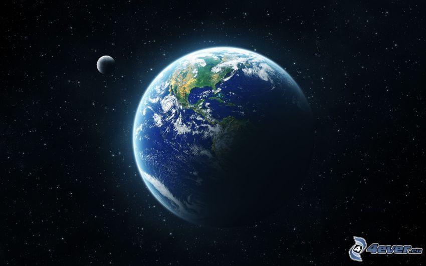 Jorden, måne, stjärnor
