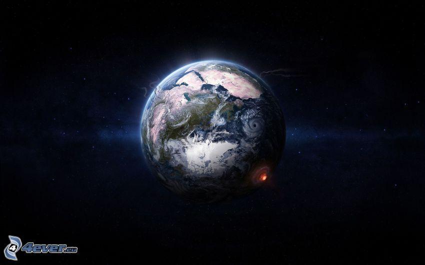 Jorden, rymdkollision