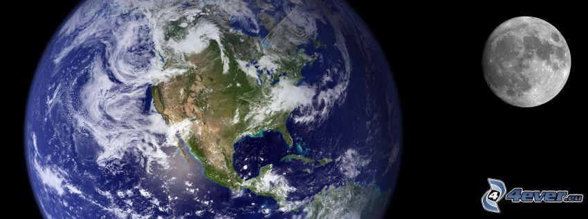 Jorden och Månen, Amerika