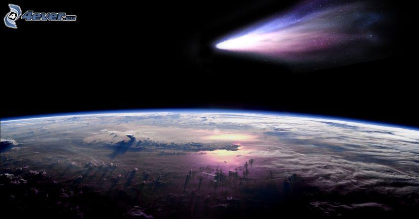komet, Jorden från ISS