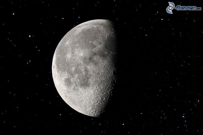 Månen, stjärnor, universum