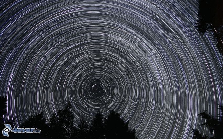 natthimmel, stjärnhimmel, Jordens rotation