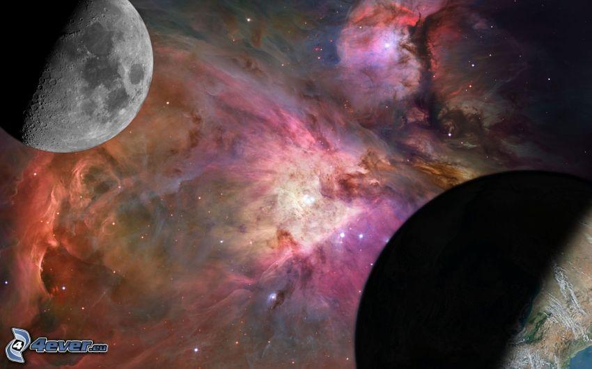 nebulosor, måne, Jorden