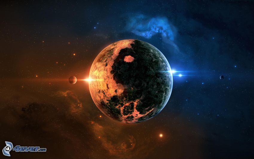 planet, stjärnor, nebulosor