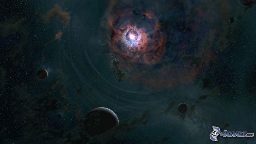 planet supernova, planeter