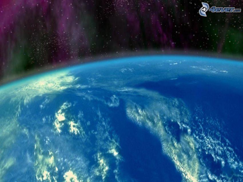 planeten Jorden, norrsken, atmosfär, universum