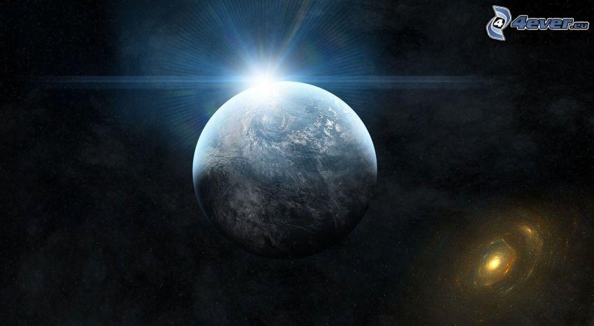 planeten Jorden, sol, galax