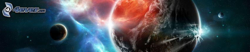 planeter, nebulosor, panorama