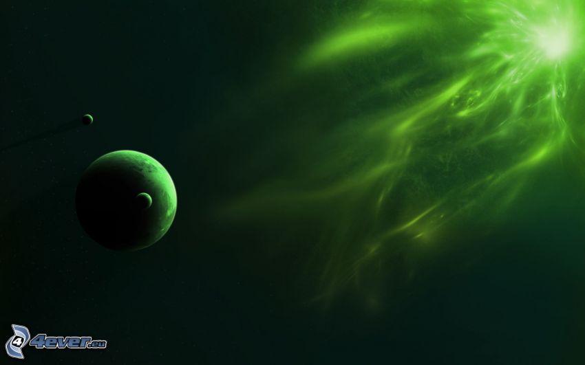 planeter, sken