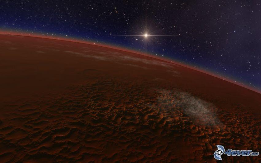 röd planet, stjärnor