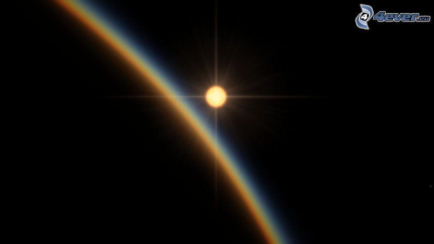 Solen bakom Jorden, atmosfär