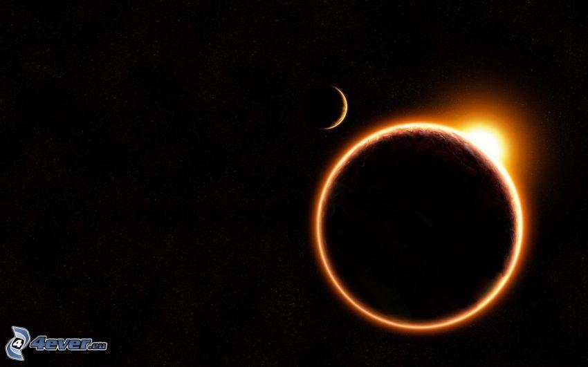 solförmörkelse, måne