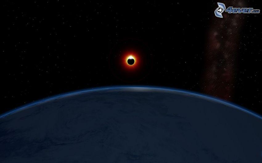 solförmörkelse, planeten Jorden
