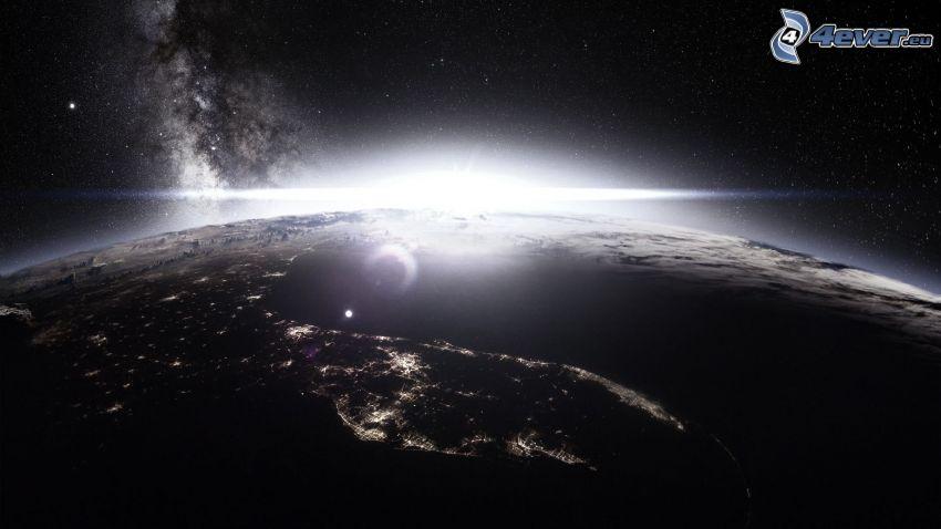 soluppgång, Jorden