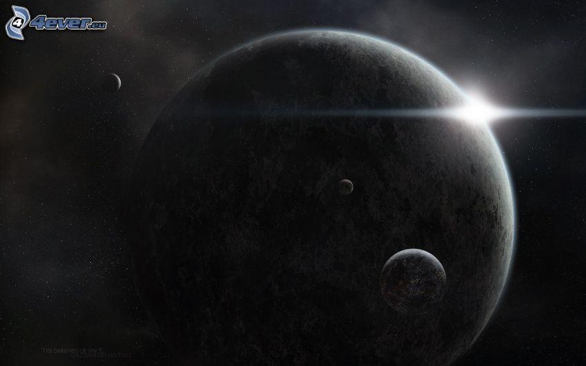 stjärna bakom planet, planeter