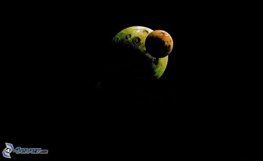 två månar