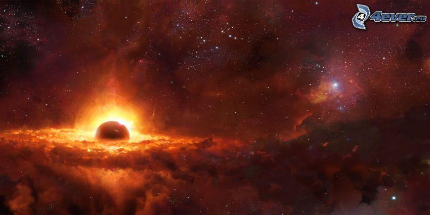 universum, nebulosor, planet, stjärnor