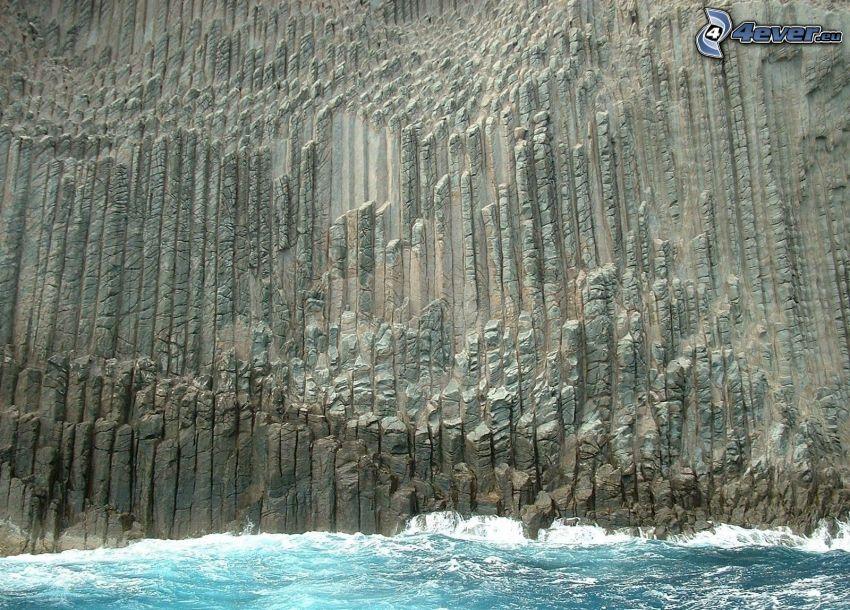 San Sebastián, klippa, vatten
