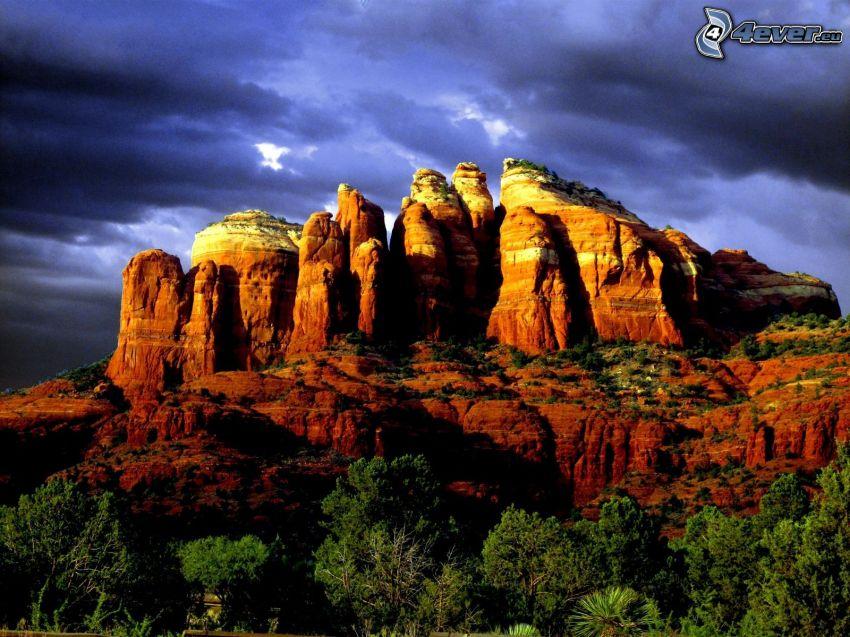 Sedona - Arizona, klippor