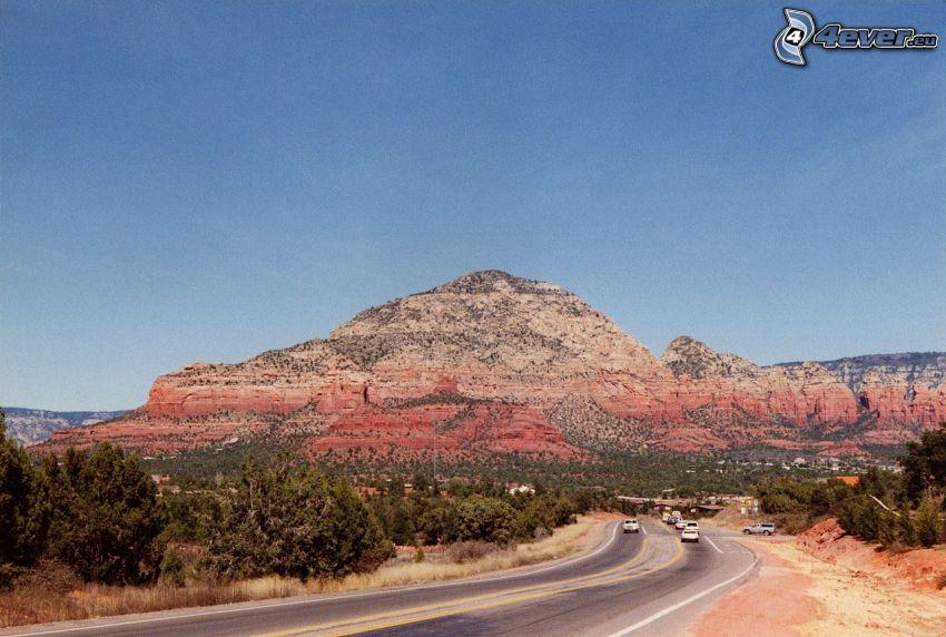 Sedona - Arizona, väg, klippa