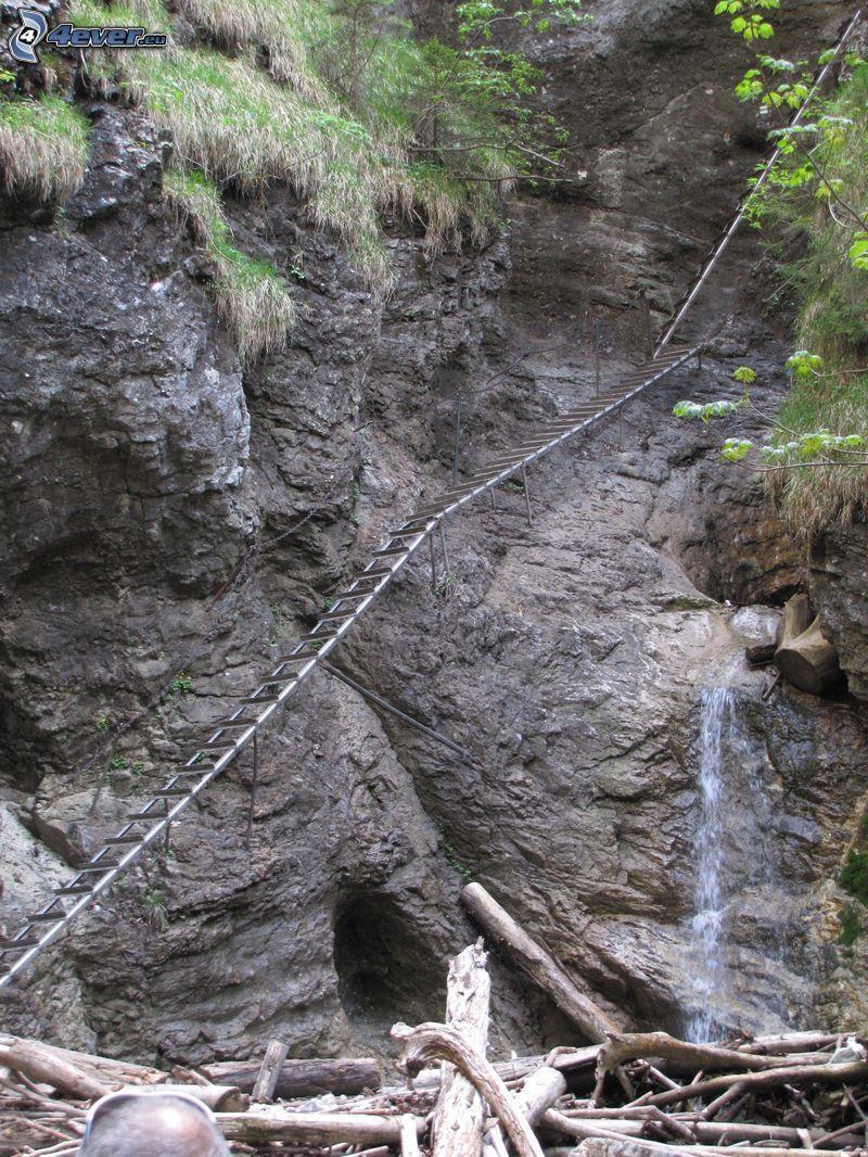 Slovakisla Paradiset, stege, vattenfall