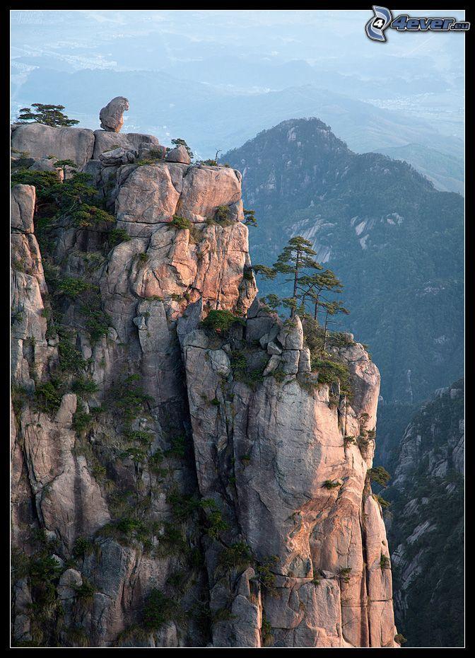 utsikt från klippor, Kina