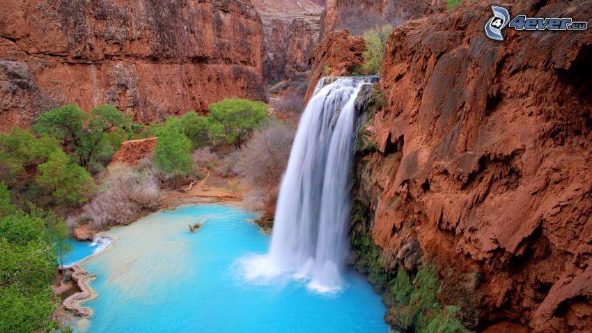 vattenfall, Arizona, klippor