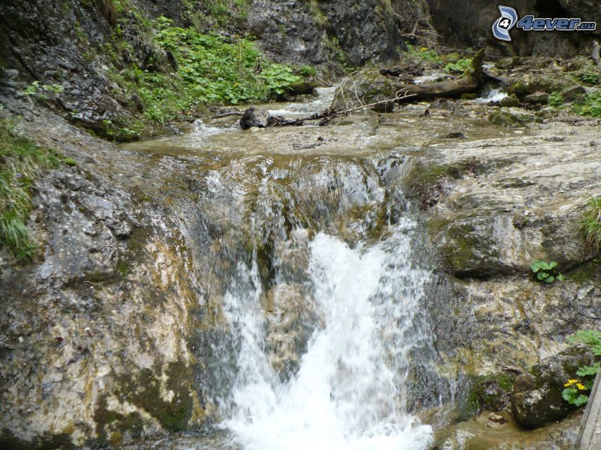 vattenfall, klippa