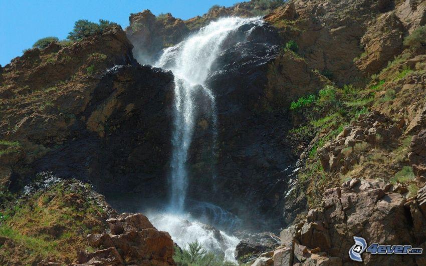 vattenfall, klippor
