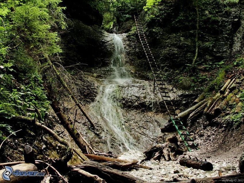 vattenfall, Slovakisla Paradiset, stege
