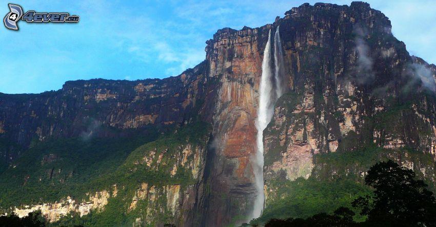 Vattenfallet Angel Falls, rev, Venezuela