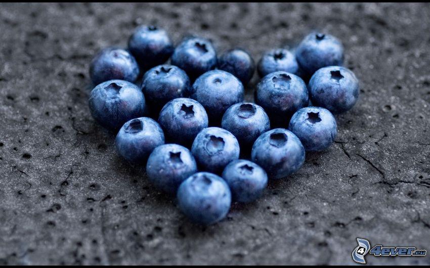 blåbär, hjärta