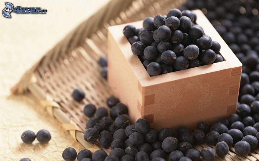 blåbär, låda