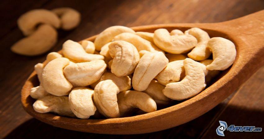 cashewnötter, sked