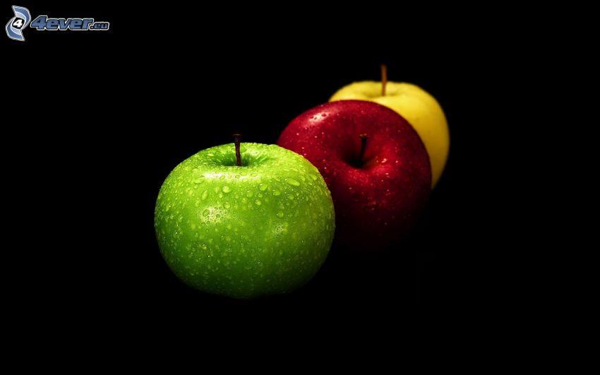 färggranna äpplen