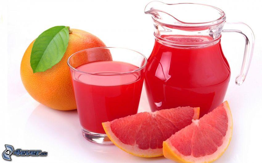 grapefrukt, färsk juice, vattenkanna
