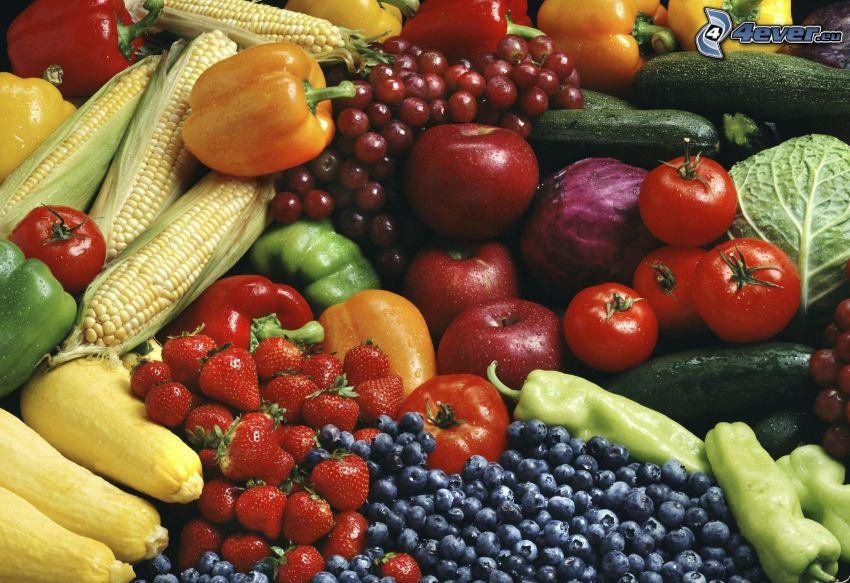 grönsaker, frukt