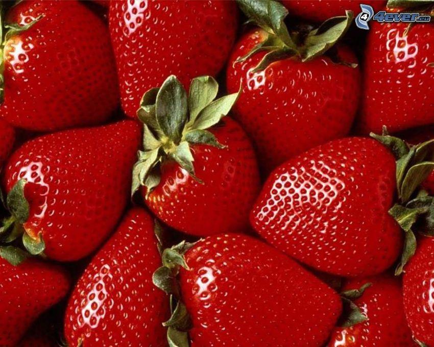 jordgubbar, frukt