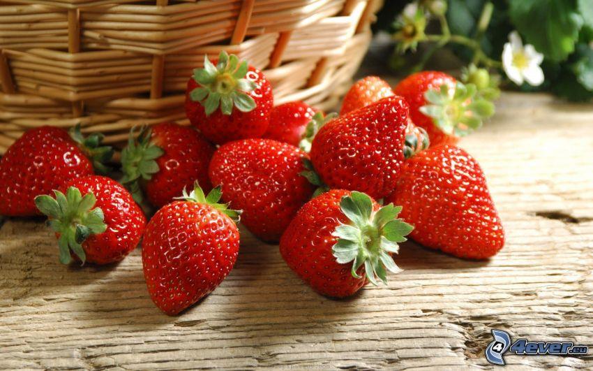 jordgubbar, korg