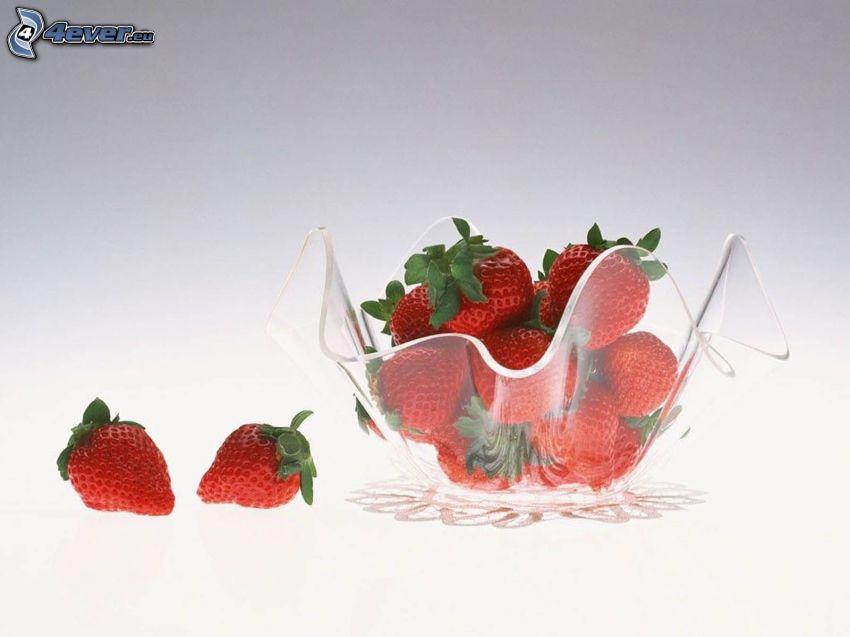 jordgubbar, skål