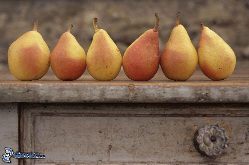 päron, byrålåda