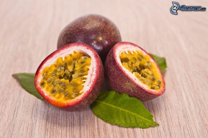 passionsfrukt, gröna blad