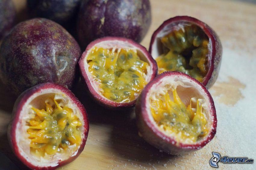 passionsfrukt, socker