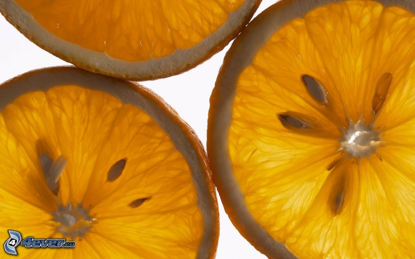 skivade apelsiner