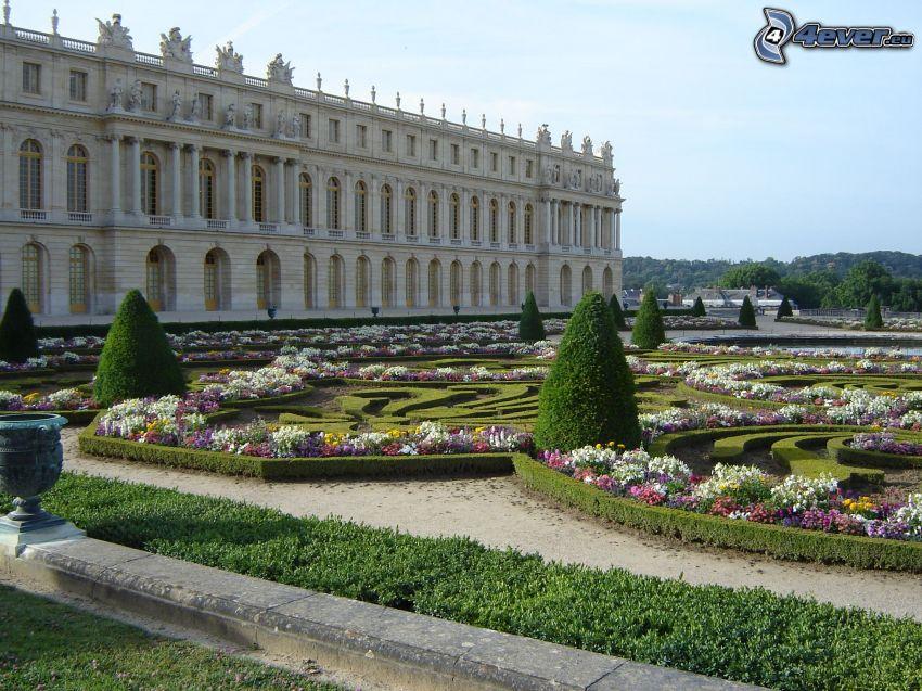Slottet i Versailles, trädgård, blommor