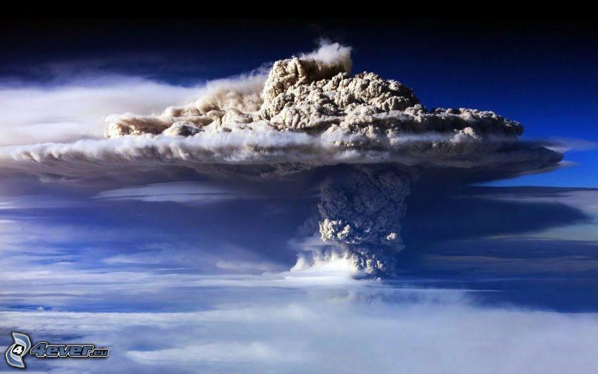 vulkaniskt moln, vulkanutbrott